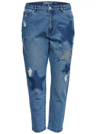 Очень стильные джинсы boyfriend со звёздами