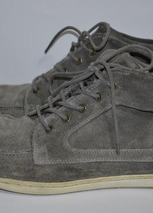 Ботинки, кеды, мокасины высокие ,натуральная замша, hush puppies фирменные 44р
