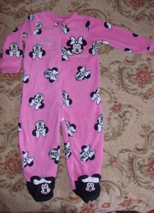 Пижама кигуруми слип человечек на 1-1,5 года рост 80-86 см
