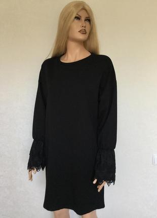 Платье свитшот с ажурными манжетами lc waikiki размер 12/14