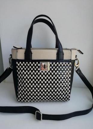 Стильна фірмова англійська сумочка шоппер ben de lisi( debenhams)