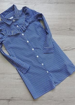 Рубашка платье в полоску
