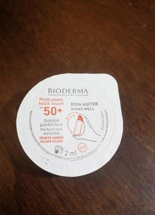 Солнцезащитное средство для кожи bioderma photoderm nude touch fps 50 , 2 мл