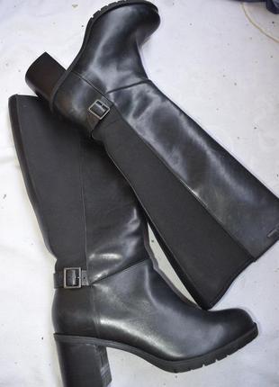 Зимние мембранные сапоги кожаные