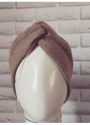 Чалма повязка на голову ангоровая чалма тюрбан