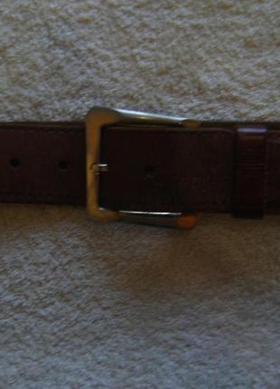 Ремень кожаный длиной 110 см