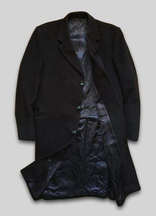Однобортное кашемировое пальто crombie мягкое и приятное