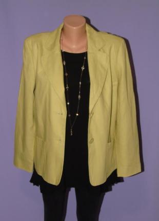 Натуральный пиджак 16  размера /52% лен bm