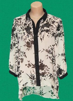 Рубашка из нежного и лёгкого шифона, очень привлекательной и интересной расцветки.