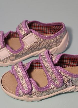 Детские текстильные открытые тапочки для девочки, с единорогом
