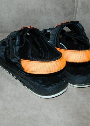 Босоножки сандали детские черные с оранжевым размер 32.4 фото