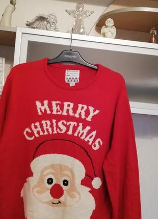 Крутой новогодний свитер большого размера xxl