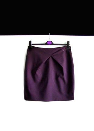 Мини юбка h&m баклажанного цвета
