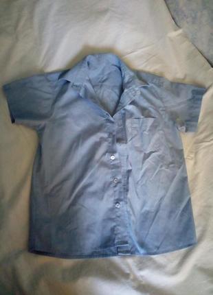 Рубашка с коротким рукавом в школу