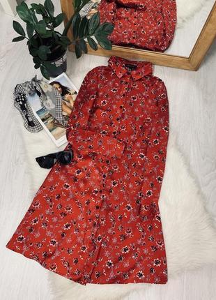 Плаття в квітковий принт від new look на ґудзиках❤️❤️❤️