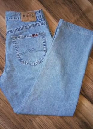 Джинсы момы унисекс mustang w33 l34! джинсы оверайз с высокой посадкой!