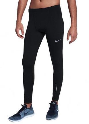 Чоловічі бігові штани тайтси nike therma run tight - l