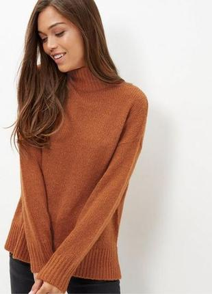 Оверсайз свитер с горлом new look
