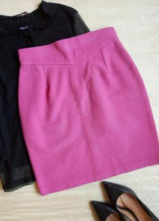 Красивая теплая юбка шерсть высокая талия
