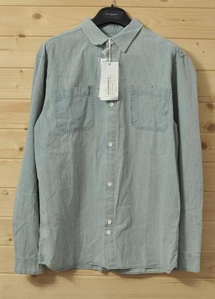Сорочка belfield bleach denim ls shirt - m