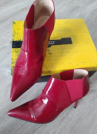 ,ботиночки кожаные лак демисезонные antonio biaggi