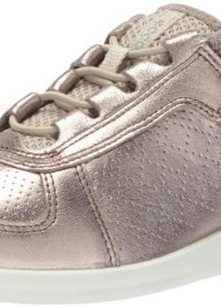 Кожаные кроссовки полуботинки ecco sense toggle