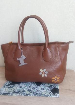 Компактная сумочка radley натуральная кожа