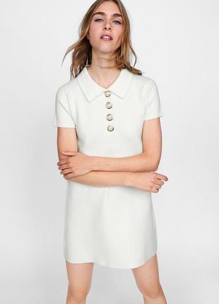 Платье с жемчужными пуговицами zara zara