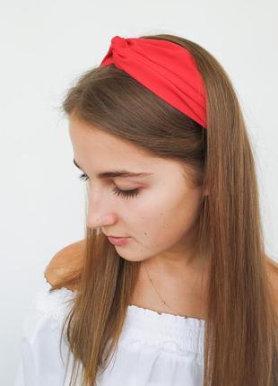 Однотоннная повязка чалма на резинке хит 2019 ободок1 фото