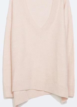 Сенсационный осенний тренд! джемпер pink oversize шерсть альпака  zara knit spain
