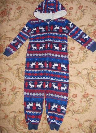 Пижама кигуруми слип человечек на 3-4 года рост 98-104 см