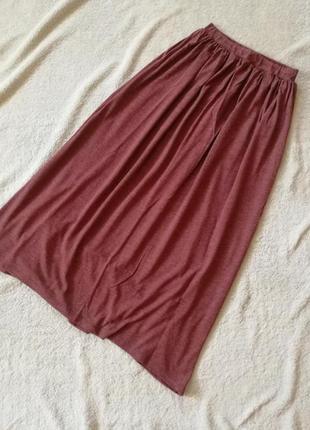 Трикотажнвя юбка макси длинная юбка