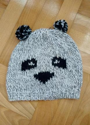 Шапка шапочка панда с ушками