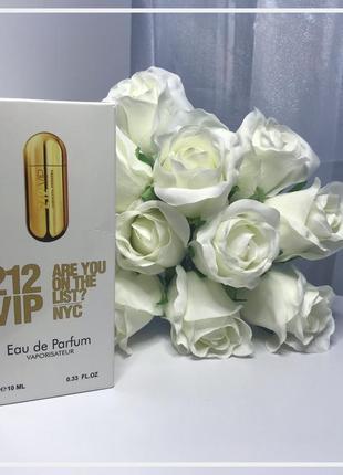 💫 женский мини-парфюм с феромонами carolina herrera 212 vip 10 мл