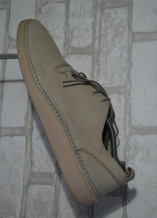 Шикарные кожаные мокасины туфли от clarks