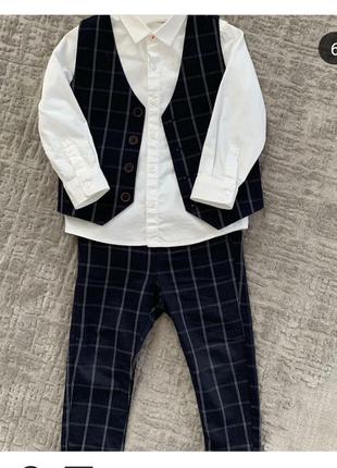 Шикарный костюм next тройка на мальчика 2-3 года