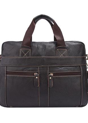 Коричневая сумка из мягкой кожи