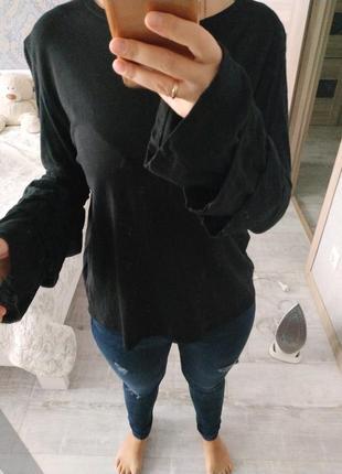 Актуальная стильная блуза кофта с рюшами хлопок