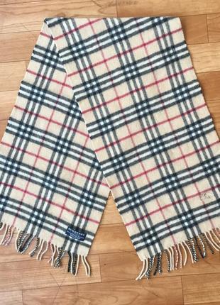 Burberry винтажный шарф кашемир шерсть
