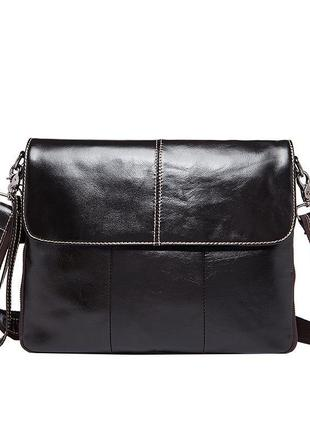 Стильная, мужская кожаная сумка