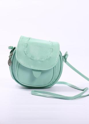 Красивая мятная сумочка-уценка (маленький деффект)