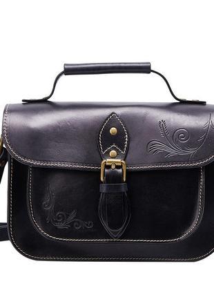 Кожаная , маленькая женская сумочка