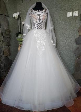 Новое свадебное платье/ весільна сукня + фата