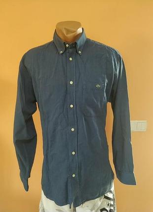Оригинальная хлопковая рубашка lacoste