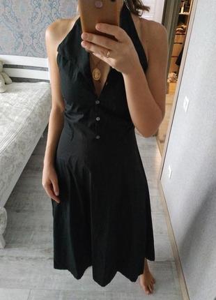 Красивое стильное актуальное платье миди хлопок