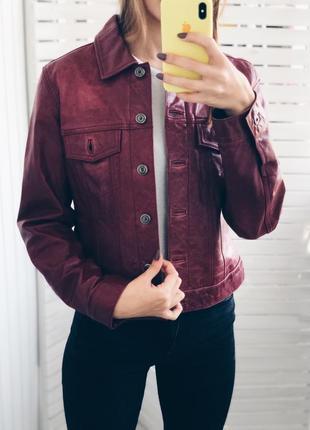 Пиджак натуральная кожа gap