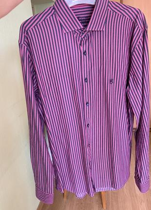 Мужская рубашка в полоску frantini