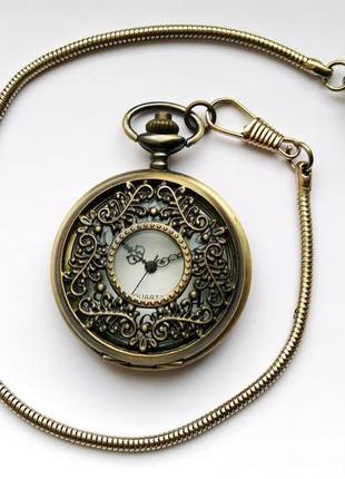 Карманные часы из сша с узорными стрелками