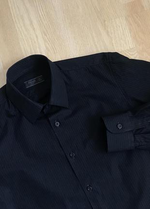 Prada milano classic shirt классическая черная рубашка