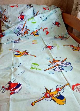 Чудесный постельный комплект с натуральной ткани, полуторка